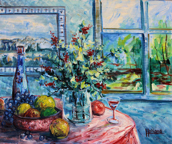 Impressionism Poster featuring the painting Fresh Spring by Leonard Holland