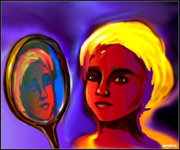 Oshun Poster featuring the digital art Oshun -goddess Of Love by Carmen Cordova
