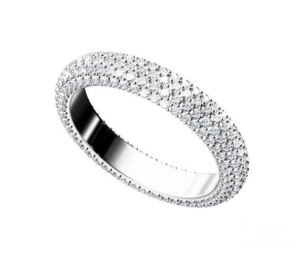 Accessories Poster featuring the jewelry The Beauty Wedding Ring by Rattanapon Muanpimthong