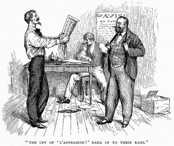 1850s Poster featuring the photograph Abolitionist Newspaper by Granger