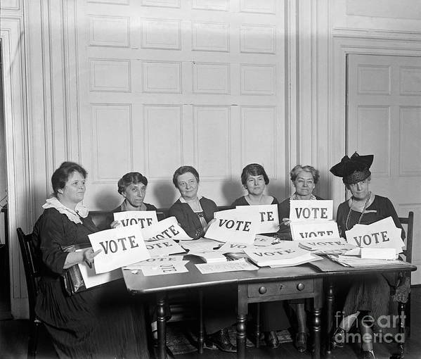 1924 Poster featuring the photograph League Of Women Voters by Granger
