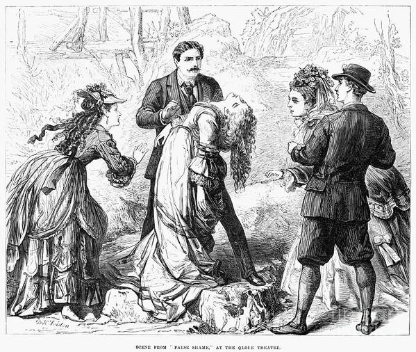 1872 Poster featuring the photograph Theater: False Shame, 1872 by Granger