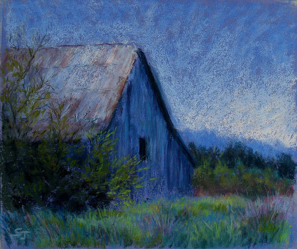 Landscape Poster featuring the pastel Appalachian Morning by Susan Jenkins