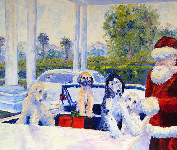Afghan Hound Poster featuring the painting Guess Who's Coming To Dinner by Terry Chacon