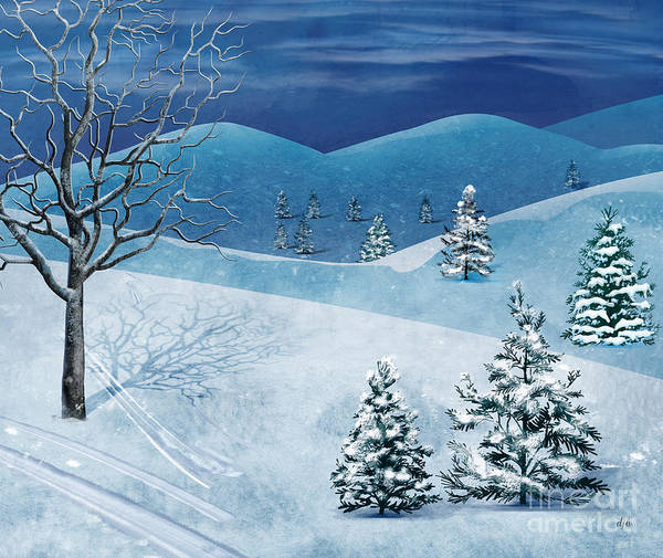 Winter Poster featuring the digital art Winter Solstice by Bedros Awak