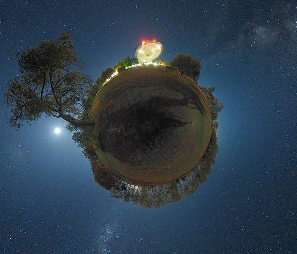 Star Poster featuring the photograph Night Sky Over Parkes Observatory by Alex Cherney, Terrastro.com