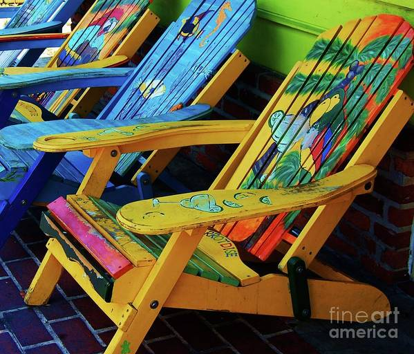 Chairs Poster featuring the photograph Dont Worry Be Happy by Debbi Granruth