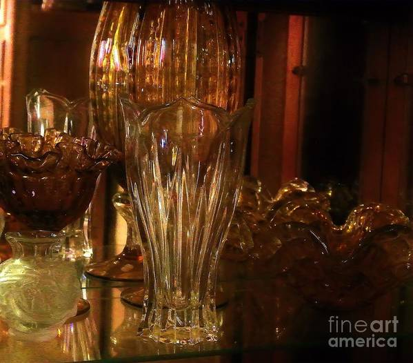 Photo Poster featuring the painting Yesturdays Glass Collection by Marsha Heiken