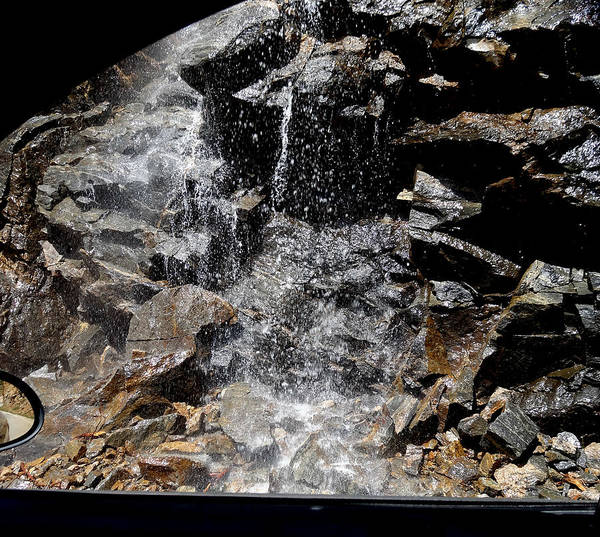 Melting Snow Photograph Poster featuring the photograph Window Waterfall by Dan Sproul