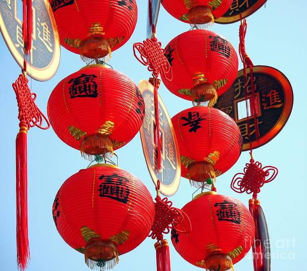 Copy Poster featuring the photograph Chinese New Year Decorations by Yali Shi
