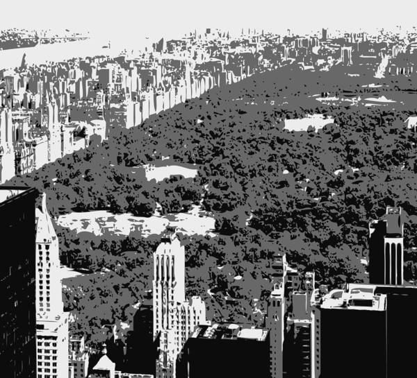 Central Park Poster featuring the photograph Central Park Bw3 by Scott Kelley