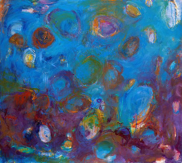Abstract Expressionistic Poster featuring the painting Truth In Dreams I by Johnathan Harris