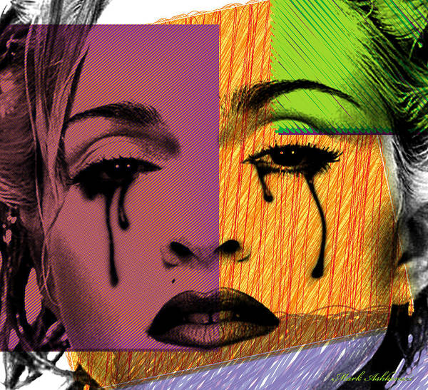 Madonna Poster featuring the digital art Madonna by Mark Ashkenazi