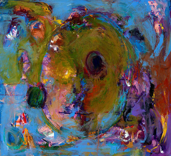 Abstract Expressionistic Artwork Poster featuring the painting Abstract 233 by Johnathan Harris