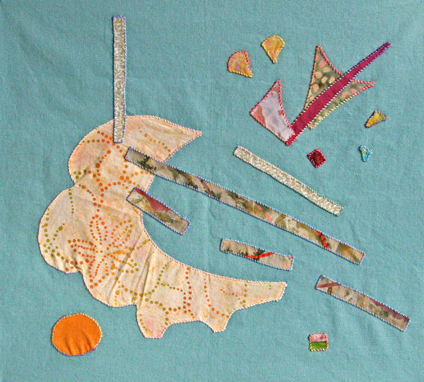 Applique Poster featuring the tapestry - textile Applique 4 by Eileen Hale