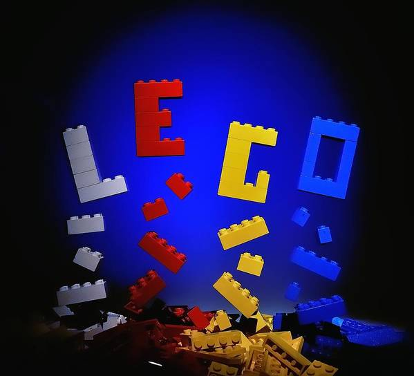 Lego Poster featuring the photograph Self-assembly by Mark Fuller