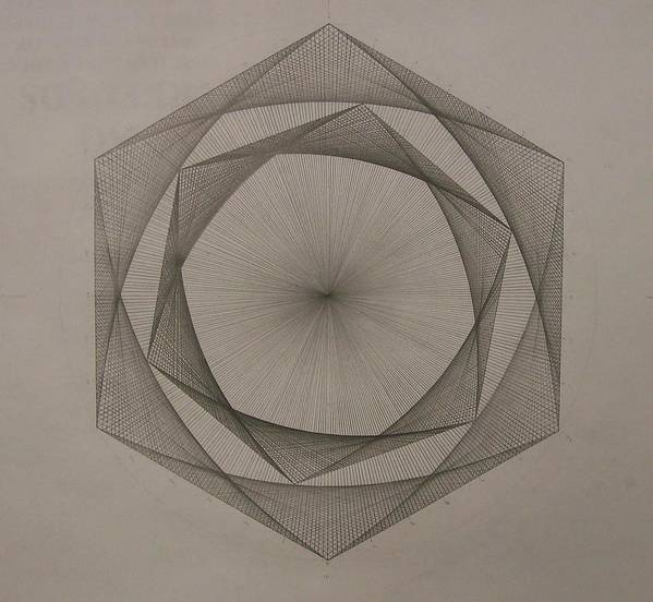 Fractal Poster featuring the drawing Solar Spiraling by Jason Padgett
