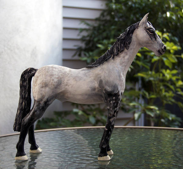 Horses Poster featuring the sculpture Snowflake by Yelena Rubin
