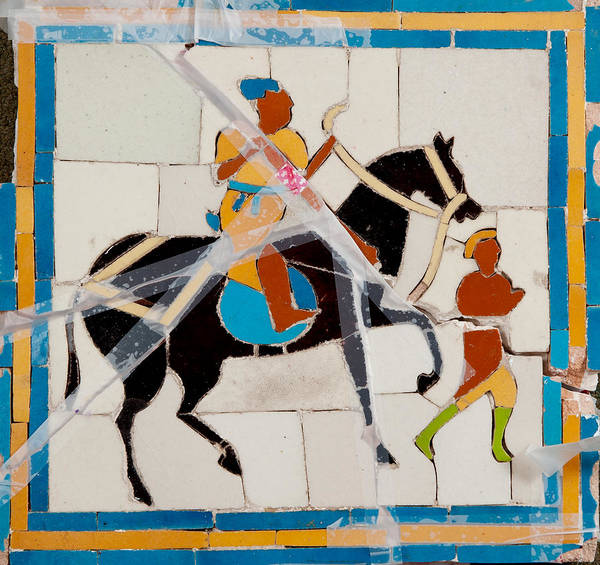 Tile Mosaic Poster featuring the ceramic art Prince And Servant by Haris Sheikh