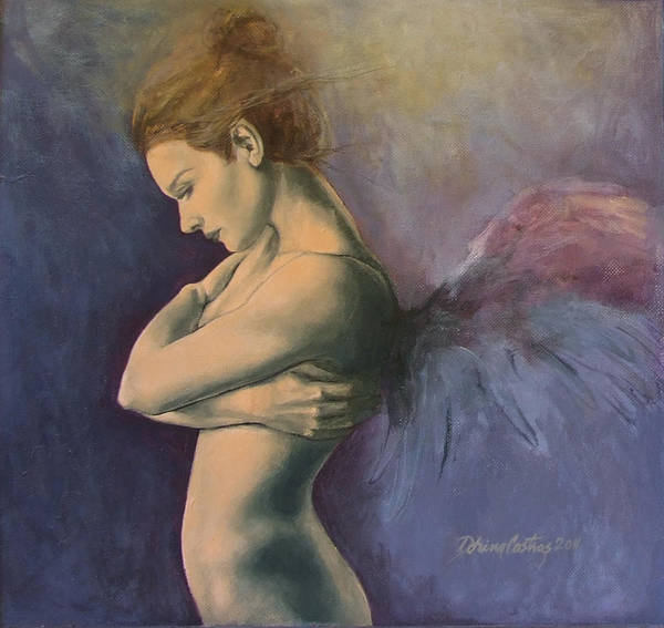 Angels Poster featuring the painting Sky Below Ground by Dorina Costras