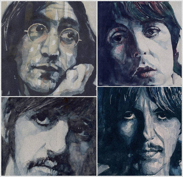 The Beatles Poster featuring the painting Reunion by Paul Lovering