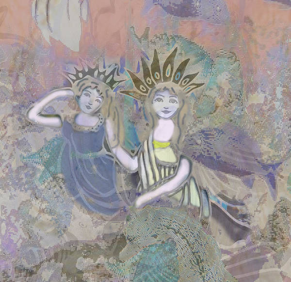 Angels Poster featuring the mixed media Under The Sea by Amelia Carrie