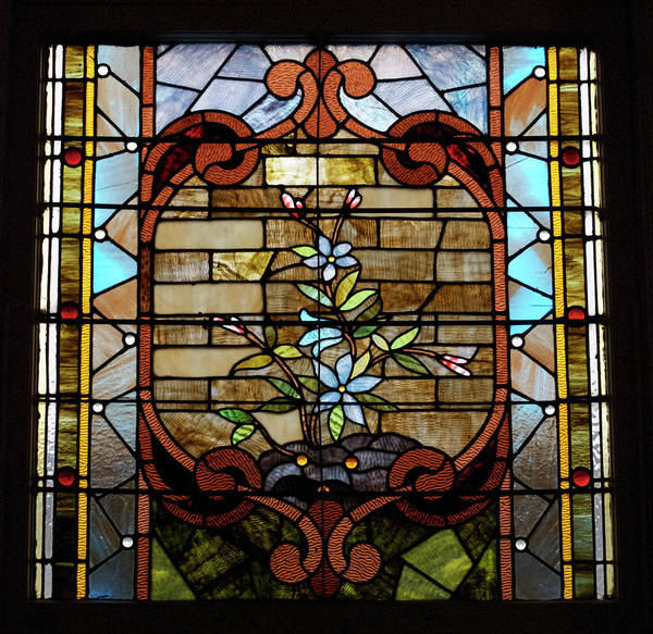 Glass Art Poster featuring the photograph Stained Glass Lc 18 by Thomas Woolworth