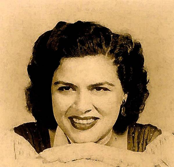 Musicians Poster featuring the painting Patsy Cline by Jeff DOttavio