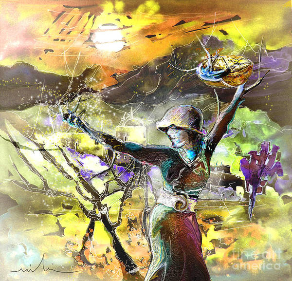 Bible Painting Poster featuring the painting The Parable Of The Sower by Miki De Goodaboom
