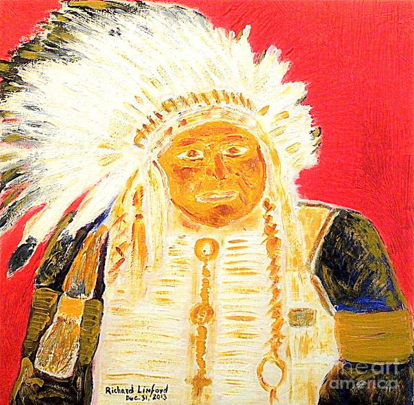 Chief Poster featuring the painting Chief Seattle 1 by Richard W Linford