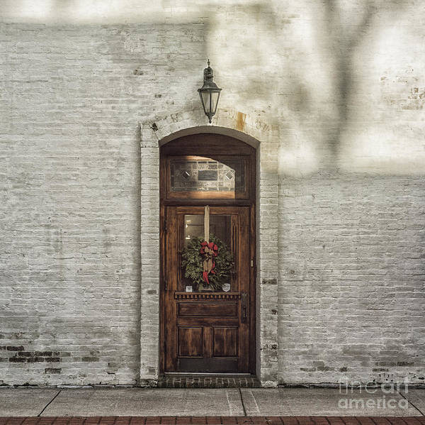 Holiday Poster featuring the photograph Holiday Door by Terry Rowe