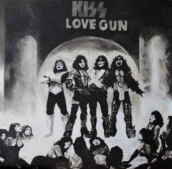Kiss Poster featuring the drawing Kiss Drawing by Tony Orcutt