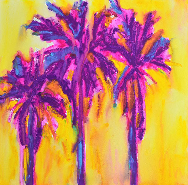 Art Poster featuring the painting Magenta Palm Trees by Patricia Awapara