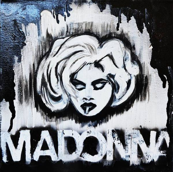 Madonna Art Prints Poster featuring the painting Madonna by Cat Jackson