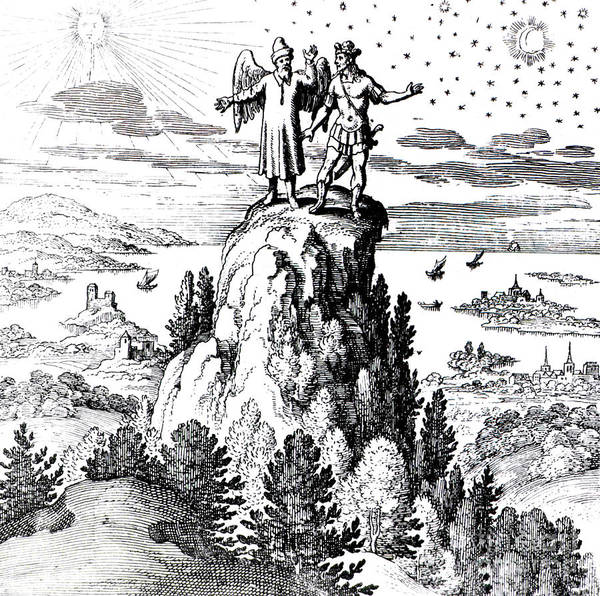 History Poster featuring the photograph Microcosm, Macrocosm, 17th Century by Science Source