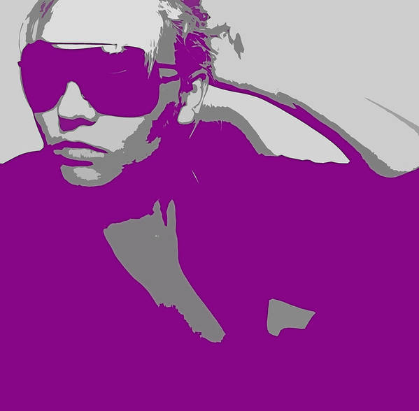 American Poster featuring the digital art Niki In Glasses by Naxart Studio