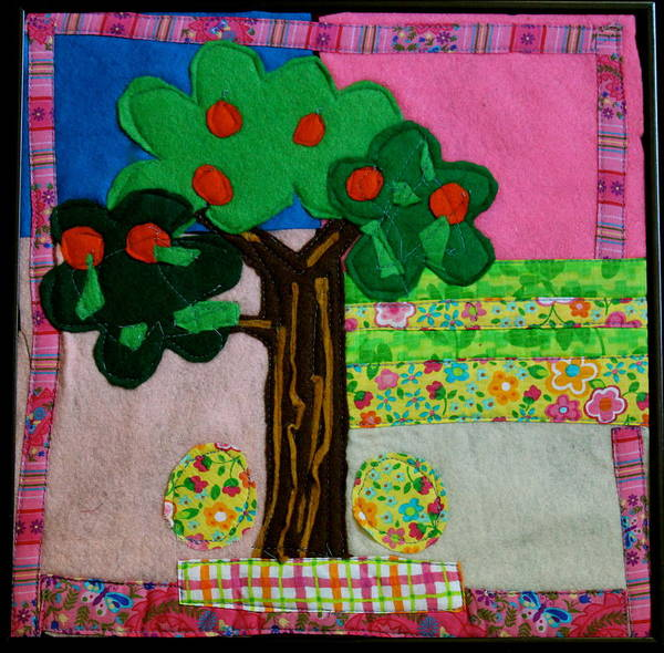 Fruit Poster featuring the tapestry - textile Tree by Ghazel Rashid