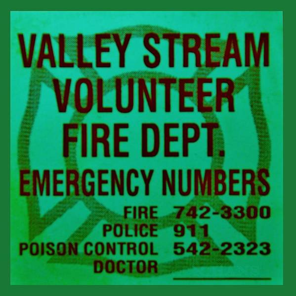 Maltese Cross Poster featuring the photograph Valley Stream Fire Department In Irish Green by Rob Hans