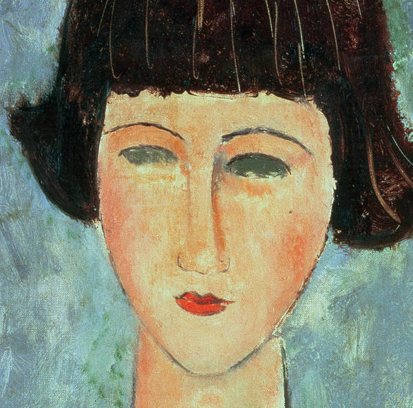 Portrait; Female; Girl; Face; Close-up Poster featuring the painting Young Brunette by Modigliani