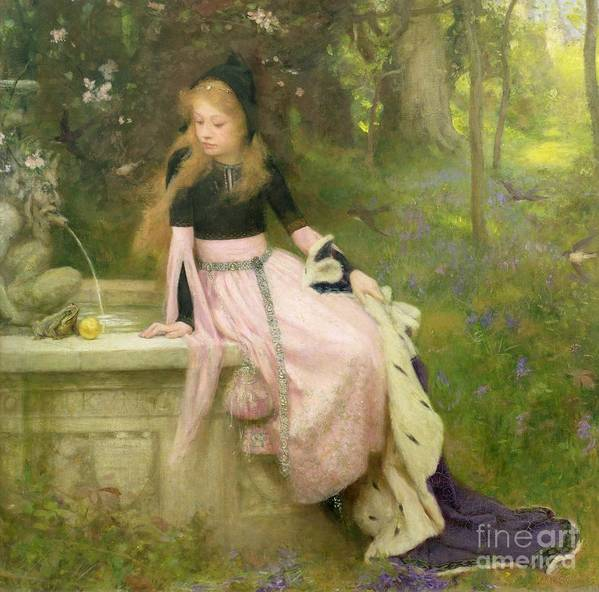 The Poster featuring the painting The Princess And The Frog by William Robert Symonds