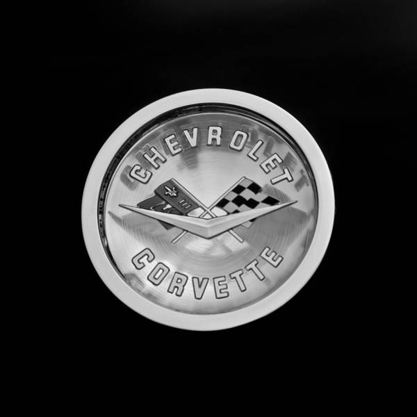 1960 Chevrolet Corvette Roadster Emblem Poster featuring the photograph 1960 Chevrolet Corvette Roadster Emblem by Jill Reger