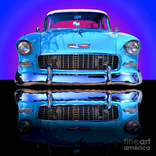 Car Poster featuring the photograph 1955 Chevy Bel Air by Jim Carrell