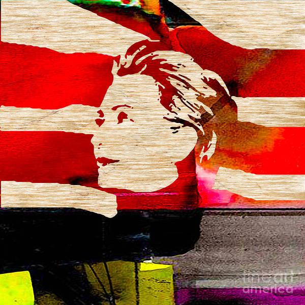 Hillary Clinton Paintings Mixed Media Poster featuring the mixed media Hillary Clinton by Marvin Blaine