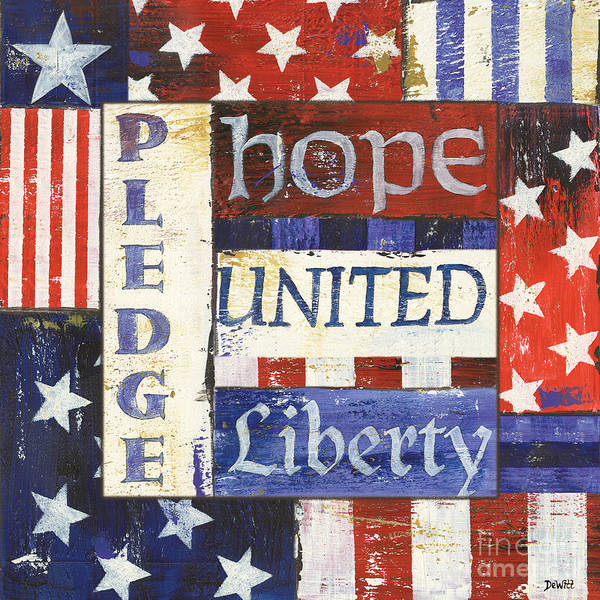 Hope Poster featuring the painting Usa Pride 1 by Debbie DeWitt