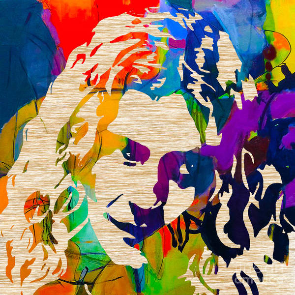 Led Zeppelin Paintings Mixed Media Mixed Media Poster featuring the mixed media Robert Plant by Marvin Blaine