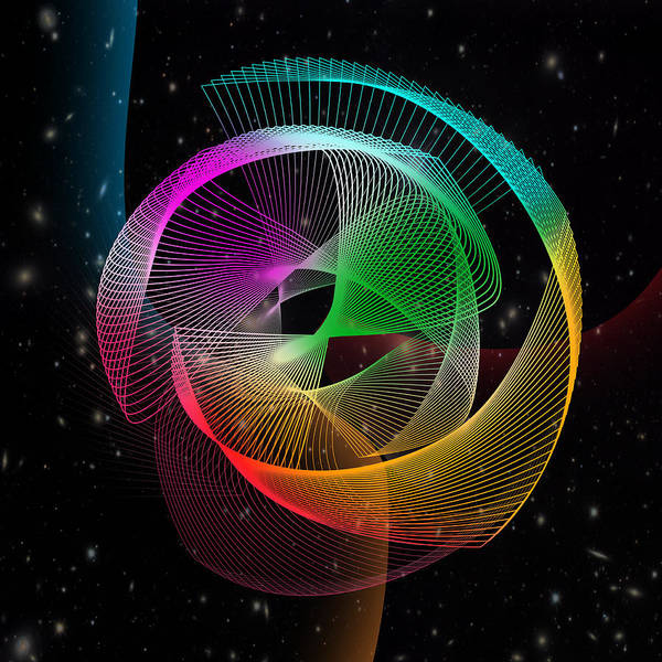 Geometric Poster featuring the digital art Abstract by Mark Ashkenazi