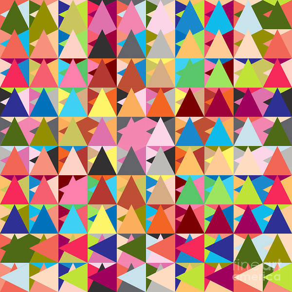 Contemporary Poster featuring the digital art Abstract Of Colors by Mark Ashkenazi