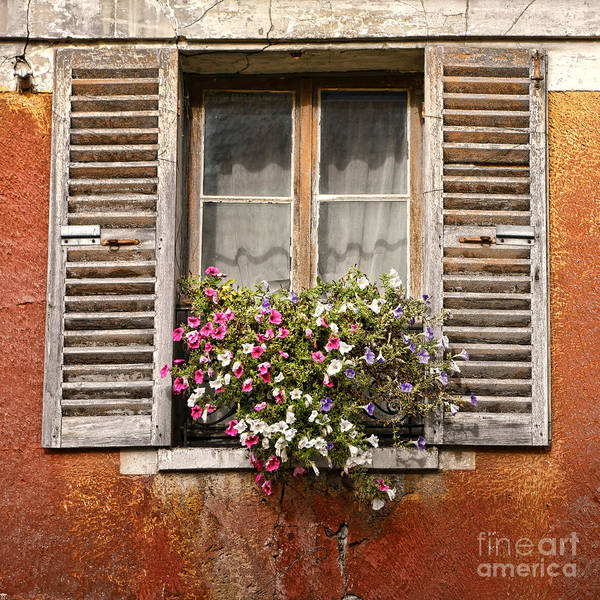 France Poster featuring the photograph An Old French Window by Olivier Le Queinec