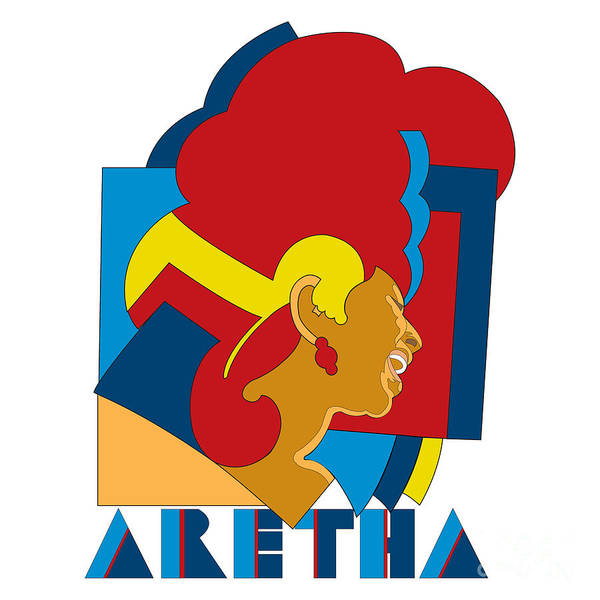 Artwork Poster featuring the digital art Aretha Franklin No.05 by Caio Caldas
