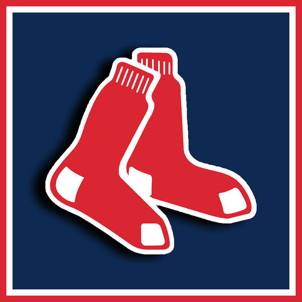 Mlb Poster featuring the painting Boston Red Socks by Tony Rubino